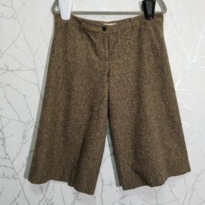 Michael Kors Brown Tweed Mid Rise Culotte Pants